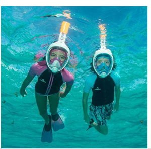 snorkeling underwater with mask