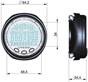 dimensions of Giotto diving watch